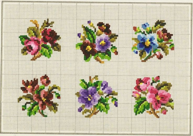 Victorian woolwork charts