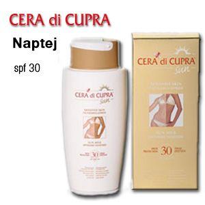 Készüljön a napozásra CERA di CUPRA, naptejekkel.  http://eldipa.eu/index.php/termekeink/napozoszerek/naptej-spf-30-detail