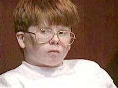 Eric Smith (13) was incarcerated for the murder, sexual abuse, and mutilation of four-year-old Derrick Robie on August 2, 1993, in Steuben County, NY. Smith was riding his bike to a summer day camp at a local park and 4-year-old Derrick Robie was walking alone on a sidewalk to that same camp. Smith pulled Robie into the bushes, strangled him, dropped a pair of large rocks on the boy's head, undressed his body, and sodomized him with a tree limb. Smith was eligible for parole in April 2014.