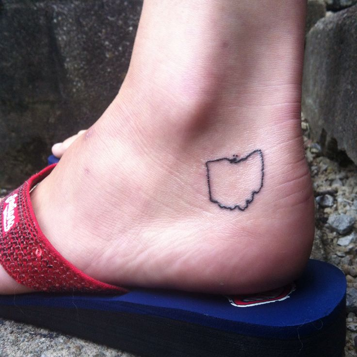 Ohio tattoo :) Love my new tattoo! #Ohio #State #outline