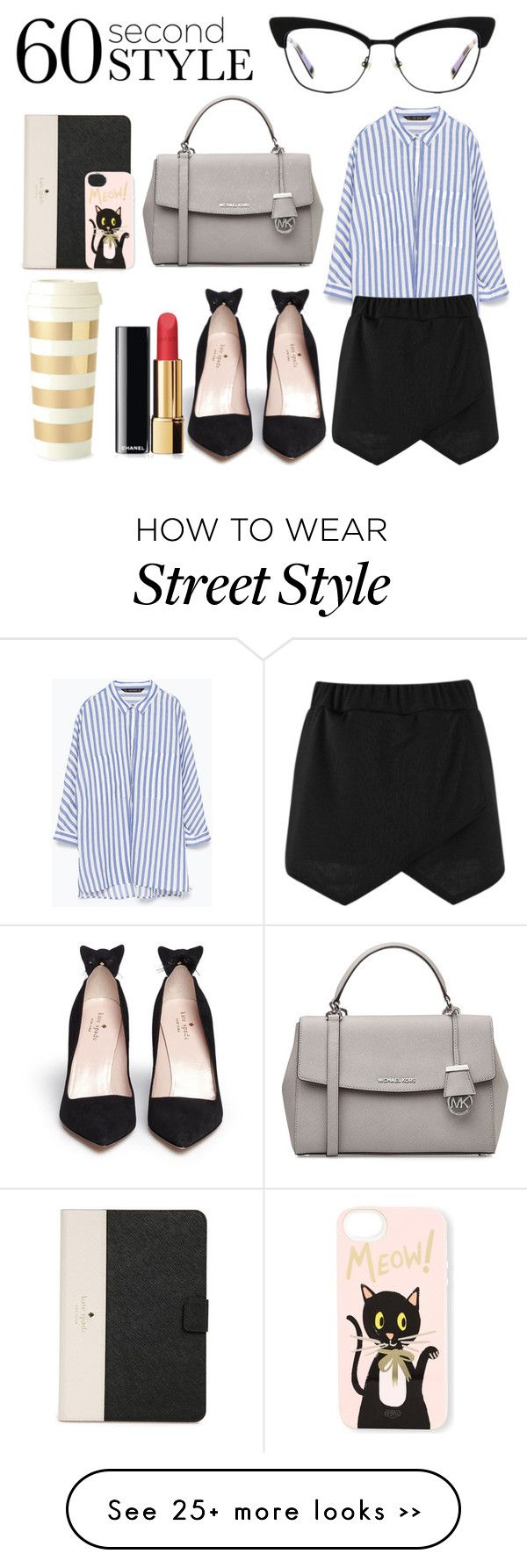 """""""Cool 'Kit' Tech Job Interview"""" by camellia-rose on Polyvore featuring Kate Spade, Zara, Boohoo, MICHAEL Michael Kors, Chanel, Rifle Paper Co and 60secondstyle"""