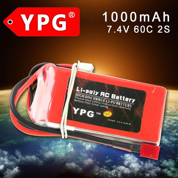 $12.55 (Buy here: https://alitems.com/g/1e8d114494ebda23ff8b16525dc3e8/?i=5&ulp=https%3A%2F%2Fwww.aliexpress.com%2Fitem%2FYPG-Lipo-Battery-2S-7-4V-1000MAH-15C-Max-30C-Battery-packs-batteria-lipo-Akku-quadcopters%2F32638729183.html ) YPG 7.4V 1000MAH 60C 2S Lipo Battery  Battery packs For Akku quadcopters RC car Parts for just $12.55
