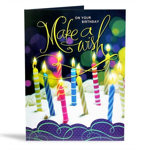 Birthday Wish Jumbo Card On your birthday make a wish ....................................................... Card Size : 22.5 X 17.5 inch. | Rs. 374 | Shop Now | https://hallmarkcards.co.in/collections/shop-all/products/best-birthday-wishes