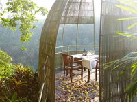 La View Restaurant in Ubud Bali Indonesia at Kupu Kupu Barong Villas and Tree Spa - Luxury Hotel