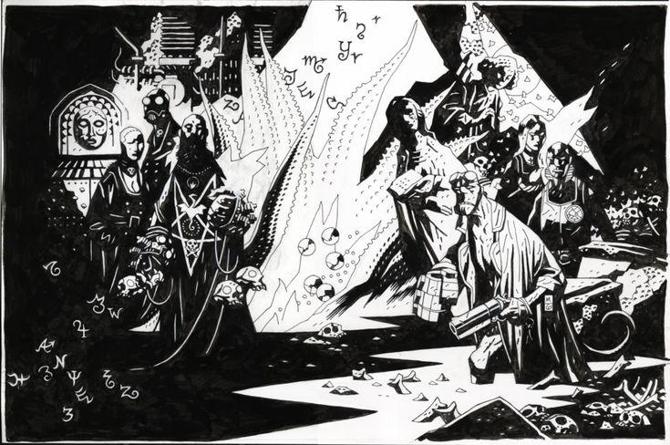Hellboy Card Box Comic Art