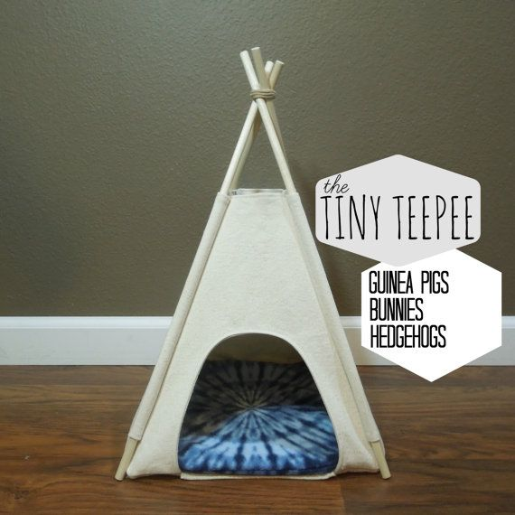 Guinea Pig Bunny Hedgehog Tiny Teepee 12 by VintageKandyLiving