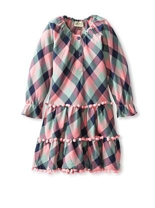 68% OFF Sophie Catalou Atelier Girl's Rosalinda Dress (Sage/Pink Plaid)