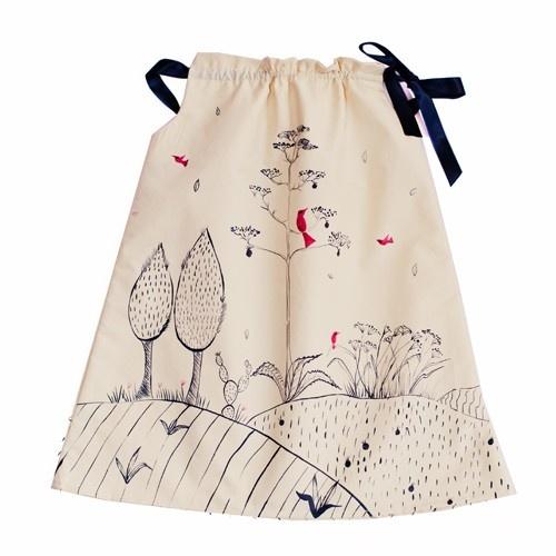 """Vestido niña """"Árboles"""" LE PETIT MAMMOUTH"""