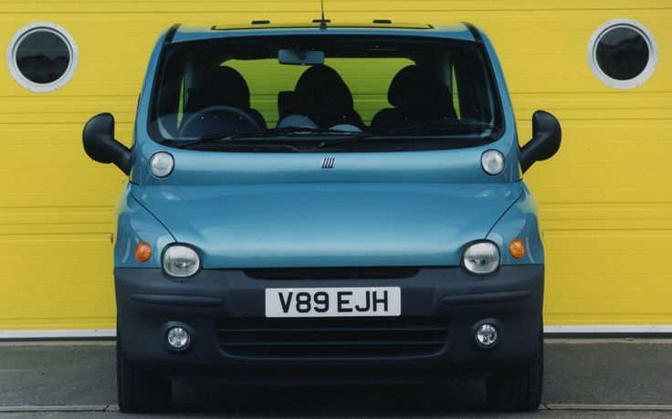 The Fiat Multipla is another of those cars where form follows function. In this case, the function involved carrying six people in two rows. The result is a wide but very practical car. And while it's no oil painting, there's something quite charming about the Multipla's bulbous snout