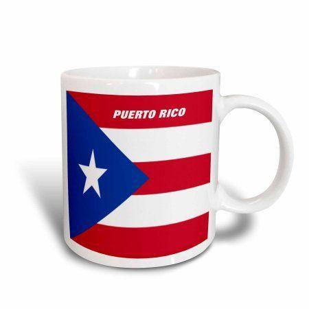 3dRose State Flag Of Puerto Rico, Ceramic Mug, 11-ounce