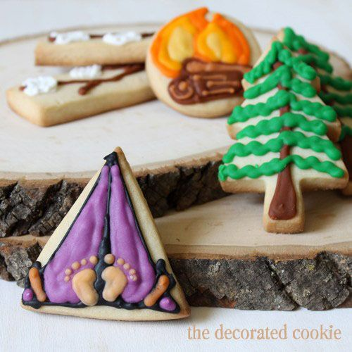 pint-size camping cookies and tips on shipping