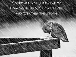 Hold on till the storm is over...There will be sunshine full of hope and dreams...