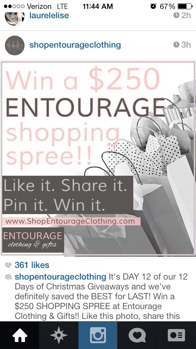 Entourage give away! I want to win!! Love the clothing and Clemson location :) #pickme @shopentourageclothing
