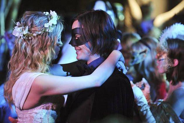 Hanna and Caleb at the Masquerade Ball