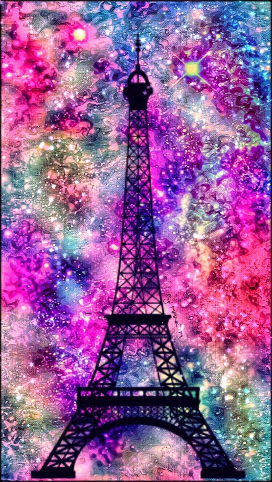 © 2016 Paris Eiffel Tower Galaxy Wallpaper