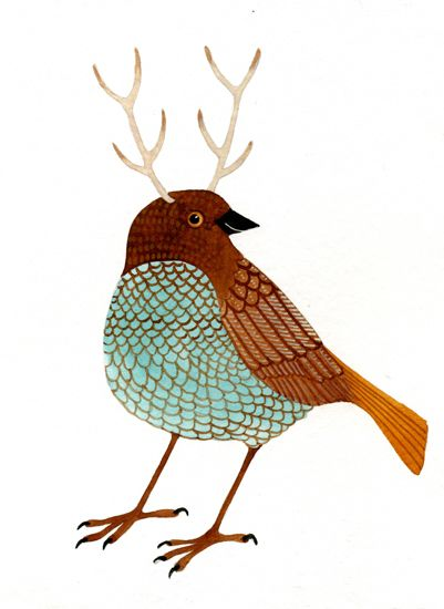 bird with antlers