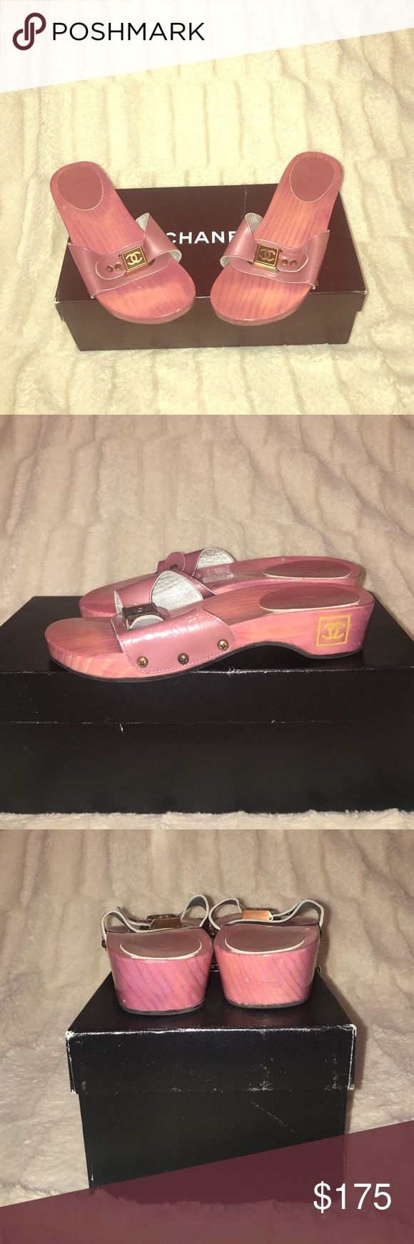 NEW CHANEL SHOES PRICE FIRM Brand New Chanel sandals. Pink/rose pink color. Strap is patent leather. Heel height is about an inch and a half. Patent leather strap also has CHANEL imprinted on it. All around fun shoe for the summer 100% Authentic!! CHANEL Shoes Sandals
