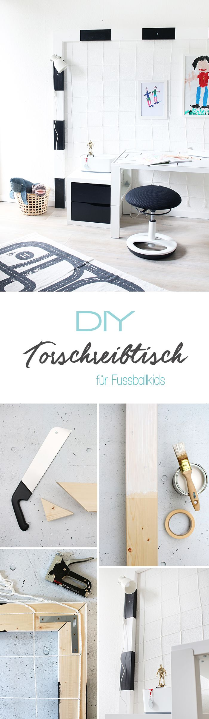 do it yourself schreibtisch f r fussballfans selbst bauen. Black Bedroom Furniture Sets. Home Design Ideas