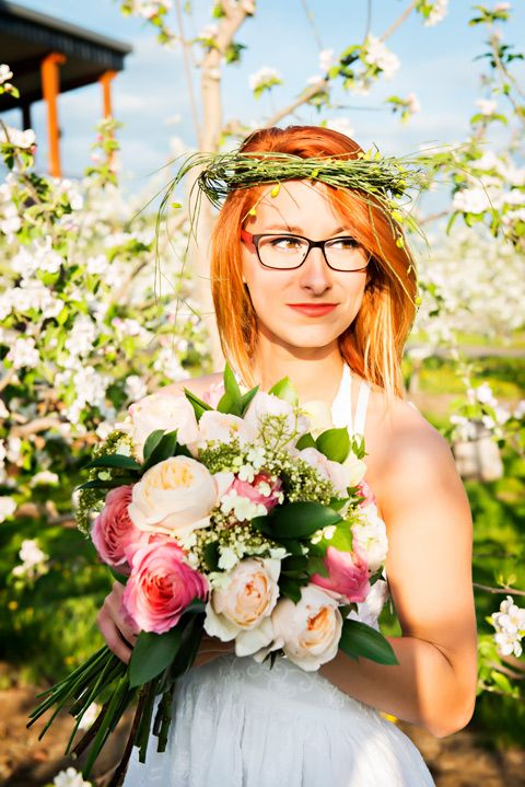 Bouquet mariée - roses de jardins Au verger domaine Cartier - Rougemont - Mélanie Moreau Styliste FLorale
