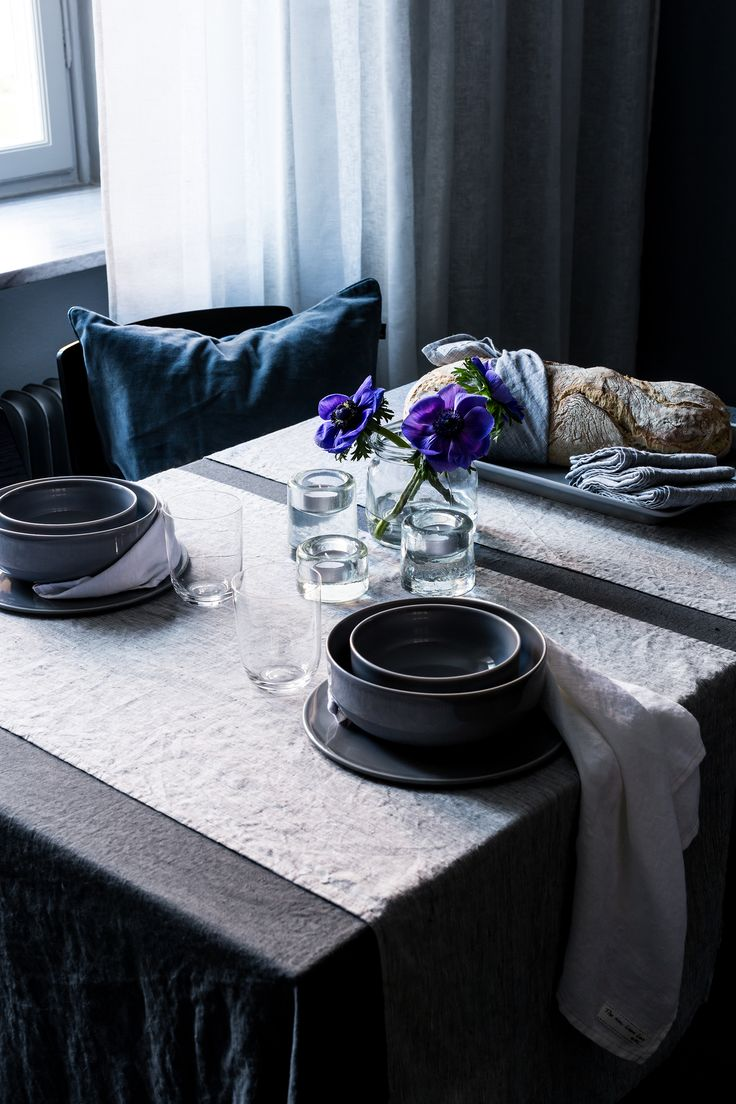 Sunshine table linen does not need to be ironed – keep the wrinkles for a lively feel.   #Himla_ab #tablelinen #dining #thenewlinenlook #sunshine