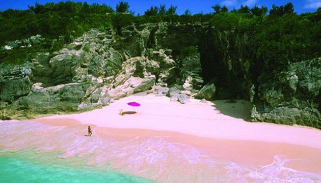 Pink sand, Eleuthera, Bahamas...we'll find puca shells and make necklaces with the young girls when we get back in town.