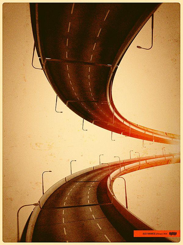Pavement Loop on Behance Graphic Art