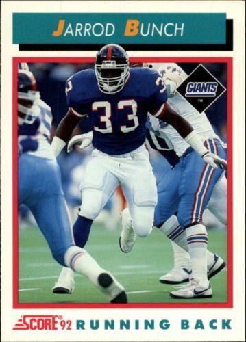 Jarrod Bunch 1992 Score #454 New York Giants Michigan Wolverines