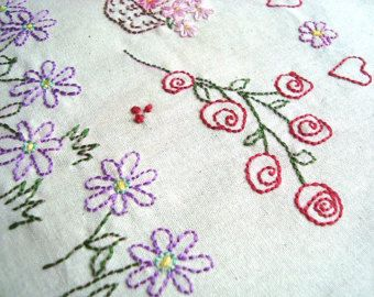 Surreal Flowers No2. Hand Embroidery Pattern by Stitchingalways