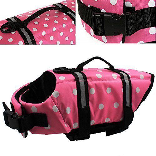 OurWarm Wave Pet Dog Life Jacket Doggy Life Vest CoatPet Dog Saver Life Vest Coat Flotation Float Life Jacket Pink Large Size - http://www.thepuppy.org/ourwarm-wave-pet-dog-life-jacket-doggy-life-vest-coatpet-dog-saver-life-vest-coat-flotation-float-life-jacket-pink-large-size/