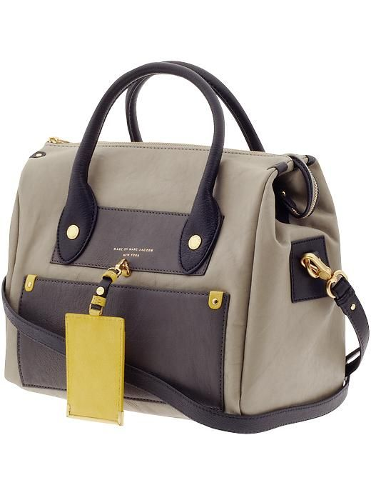 Piperlime   Preppy Leather Color Blocked Pearl