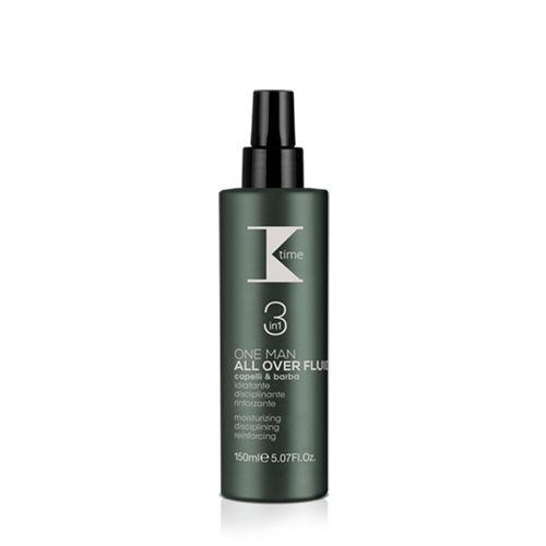 ALL OVER FLUID 3 IN 1 | Pratico, versatile e indispensabile, il nuovo All Over fluido per capelli e barba di #Ktime coniuga 3 azioni essenziali per la cura quotidiana dell'uomo moderno in un'unica soluzione idratante, disciplinante e rinforzante.