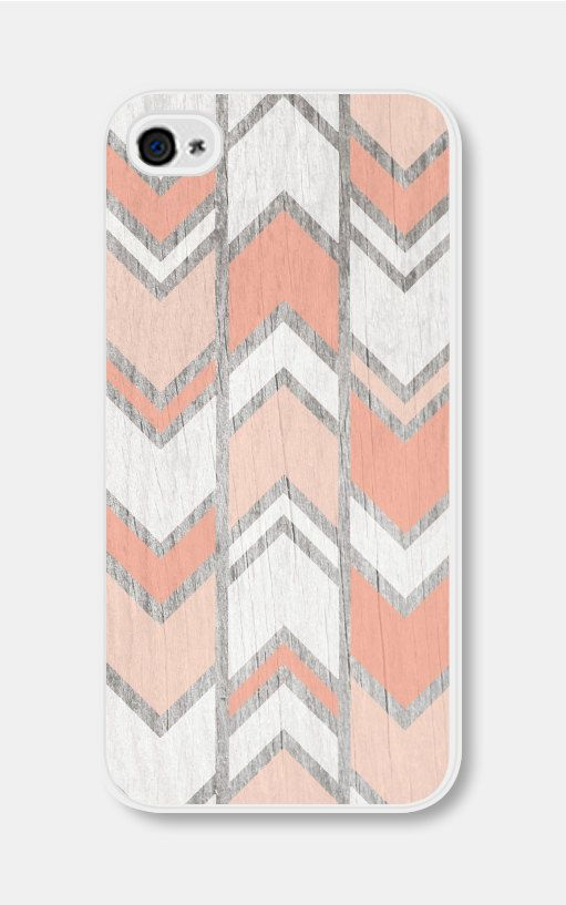 Geometric Phone Case Herringbone Peach Geometric