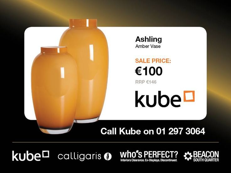 Ashling Amber Vase now 100euro  http://www.kubekitchens.ie/blog/news/the-whos-perfect-clearance-sale-starts-on-saturday-22nd-august-at-10am-in-beacon-south-quarter/