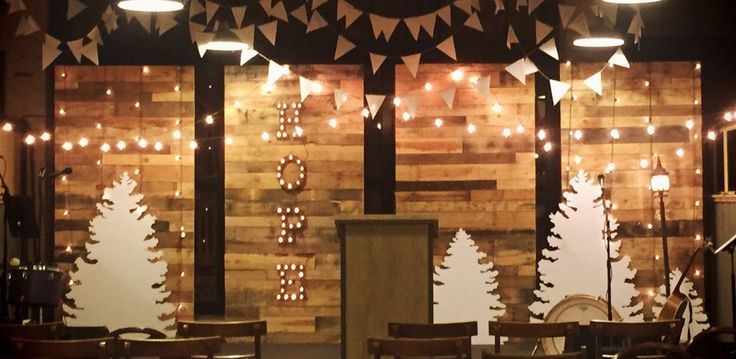 Christmas Walls from Substance Church in Ashland, Ohio   Church Stage Design Ideas