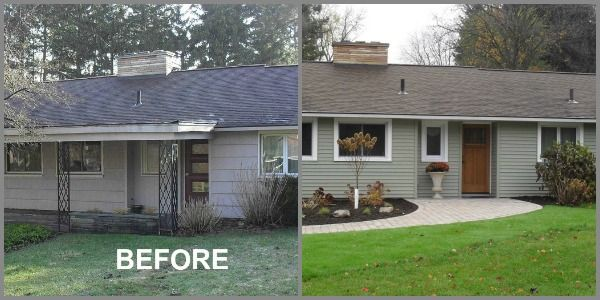 Before And After Photos Of A Ranch Home Entryway By Mcclurg Remodeling Construction Services