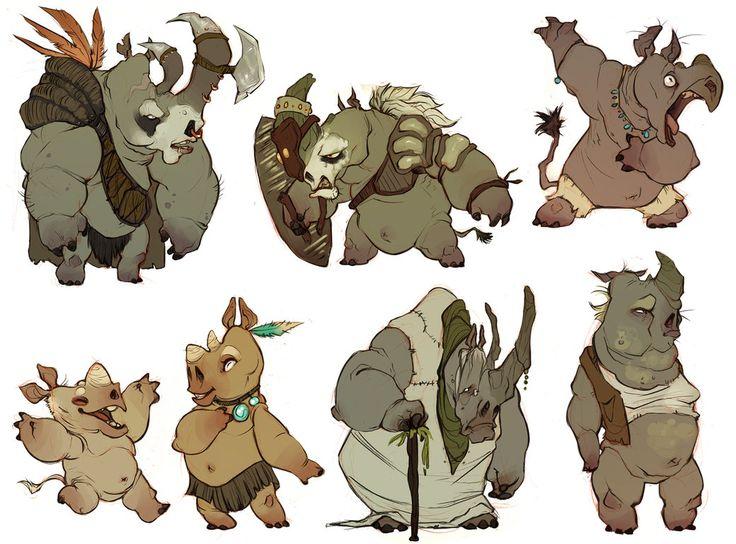 whole bunch o rhinos by CoconutMilkyway on DeviantArt