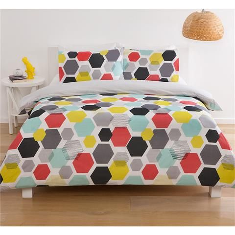 honeycomb quilt cover set queen kmart