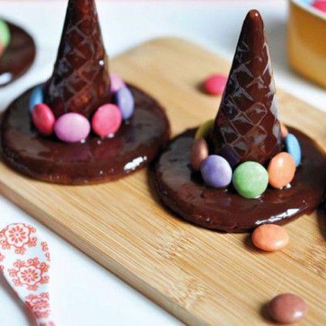 Chapeaux de sorcières au chocolat