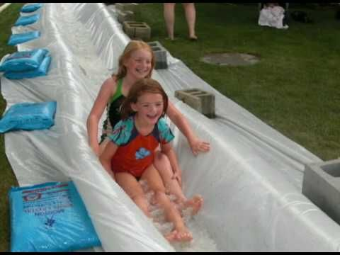 Homemade Trash Pump Water Slide