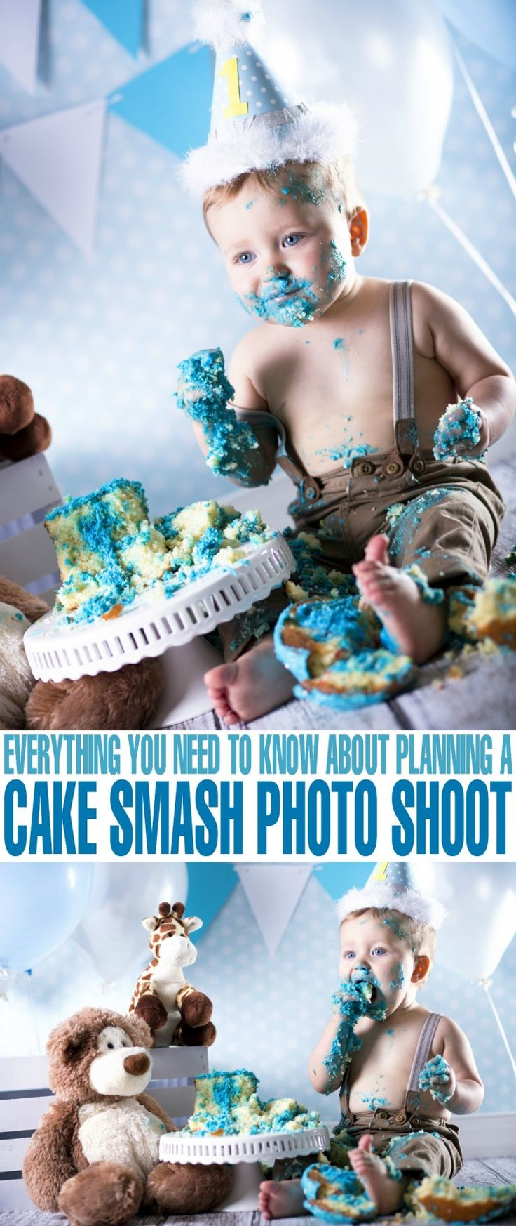 Everything You Need to Know About Planning a Cake Smash Photo Shoot for your baby girl or baby boy on their first birthday!