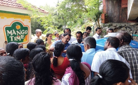 Officials of Biotech explaining functioning of biogas plants to the people who were present at the awareness programme organised by the Kumbalangi grama panchayat. Hard to know where to pin this! Rural Tourism and innovation - a perfect mix for small towns anywhere.