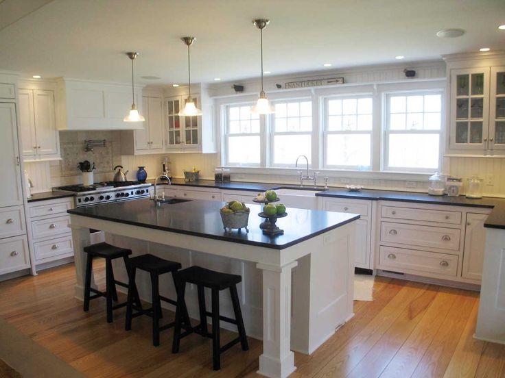 Classic White Galley Kitchen best 25+ classic white kitchen ideas on pinterest   wood floor