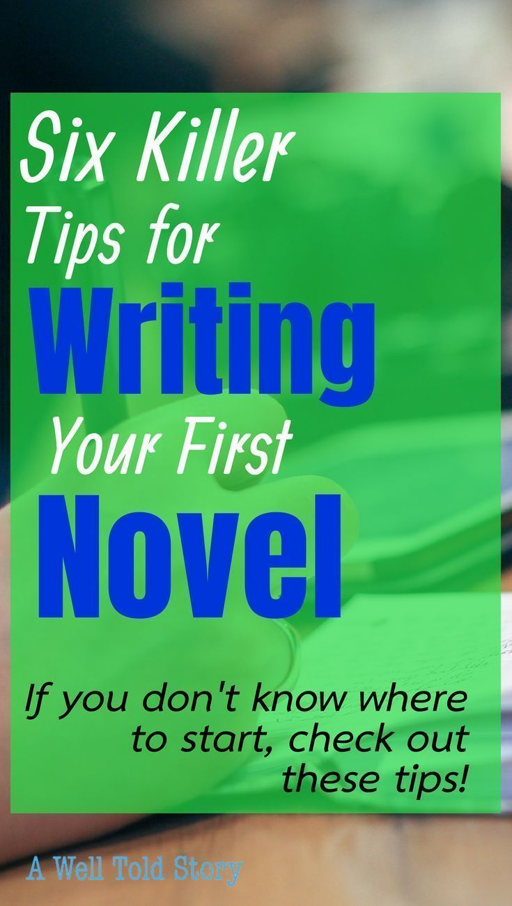How to Write Your First Novel: Where to Start  A Well Told Story