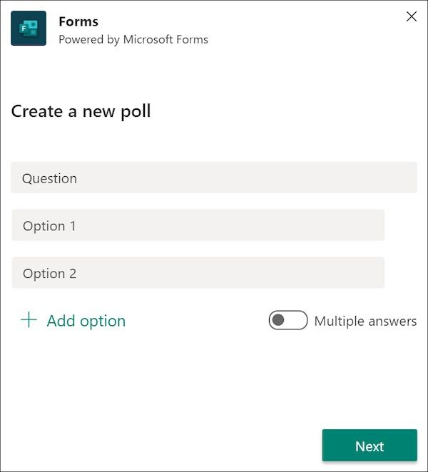 How To Create Quick Polls Or Surveys In Microsoft Teams In 2020