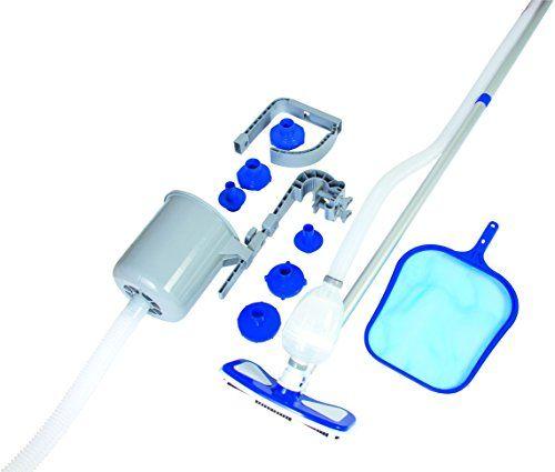 Bestway Deluxe Maintenance Kit Skimmer flottant + Système d'accroche Frame/Fast Set: Avec ce kit complet d'entretien et accessoires pour…