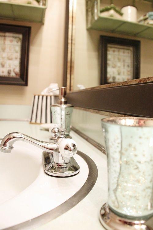 Updating a 70 39 s bath avocado aqua metals aqua and for Avocado bathroom ideas