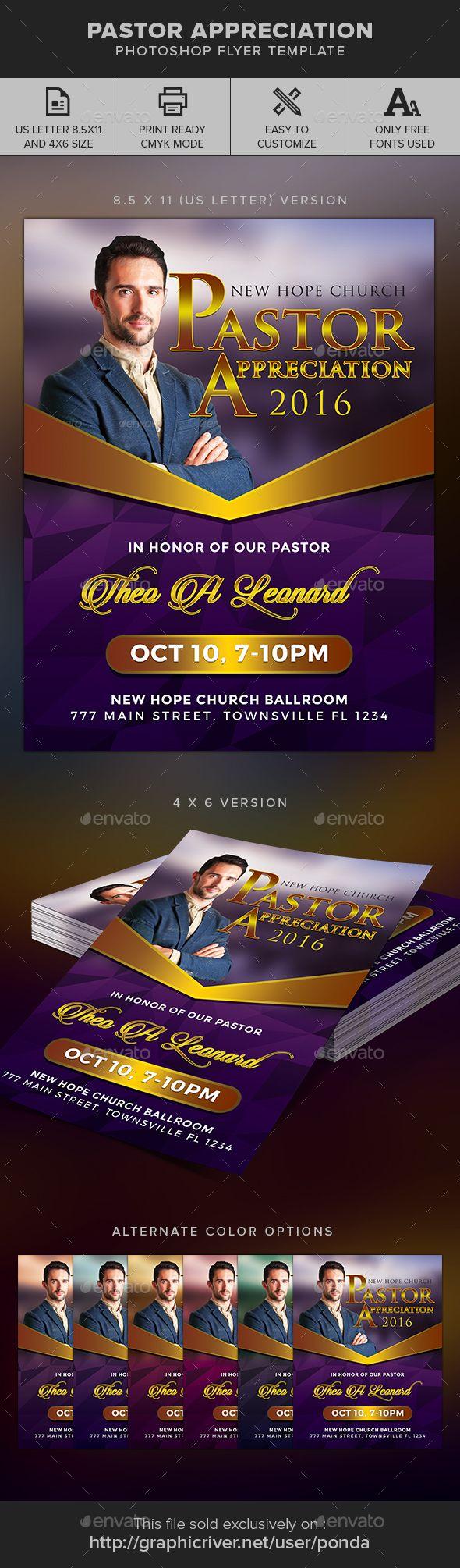 Pastor Appreciation Flyer Template Flyer Template
