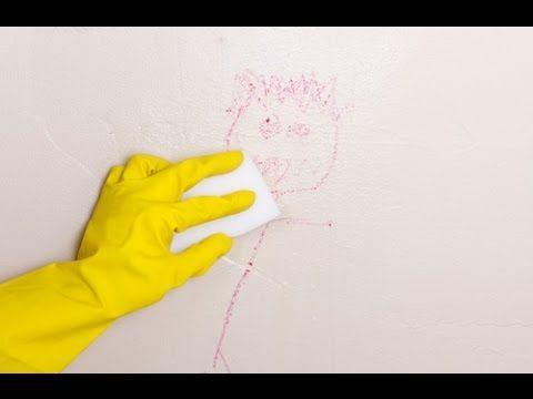 Cómo limpiar cualquier mancha en la pared (3 formas distintas 100% eficaces) - YouTube