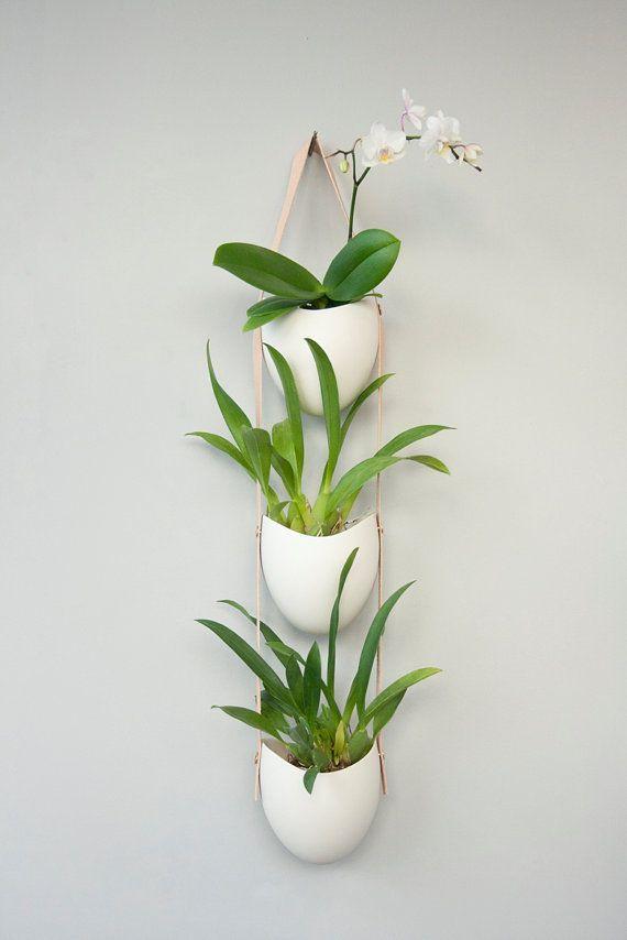 Porcelana 3 niveles y plantador de cuero por lightandladder en Etsy: