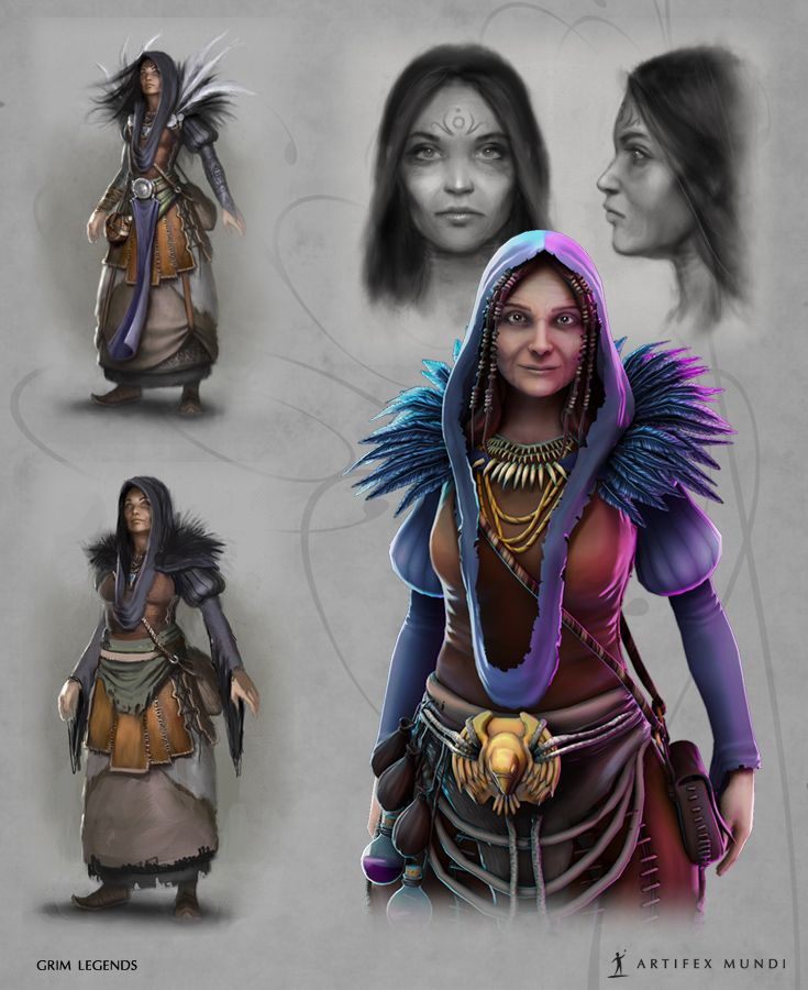Witches are very colourful and mysterious characters, always surrounded by magical accessories and dressed in unique clothes.  #artifexmundi #fashion #character #adventure   http://www.artifexmundi.com/
